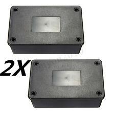 Pair Waterproof Plastic Electronic Enclosure Project Box Black 103 x 64 x 40 mm