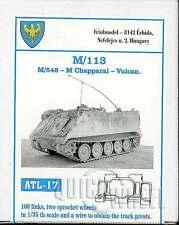 1/35 Friulmodel ATL-17 M113, M548 - M Chapparal - Vulcan Friul Metal Tracks