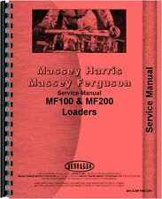 Massey Harris 50 100 200 Loader Attachment Service Manual