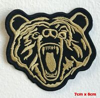 Grizzly Bear Wild Animal iron sew on Embroidered patch #806