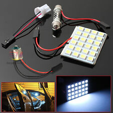 4x 24 LED 5050 SMD Car Interior Globe Bulb Panel Lights T10 BA9S Festoon Adapter