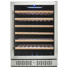 54 Bottle Single Zone Built-in Compressor Touch Control Freestanding Wine Cooler