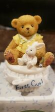 Enesco Cherished Teddies Baby's First Curl Covered Box