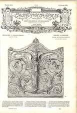 1862 elegante design TEMPIO GRECO IN TERRACOTTA ANGELI fiori opera d'arte