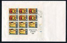 FDC blok kinderzegels 1965 op gewone brief met PLAATFOUT 854 PM blok (4);
