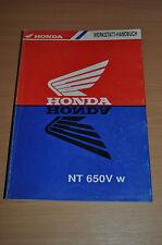Werkstatthandbuch HONDA NT 650 V Shop Manual original