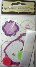NEW 11 pc CARD MAKING EMBELLISHMENTS Ribbon Buttons Gems Stickers RECOLLECTIONS