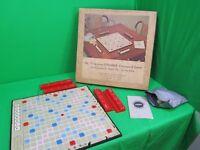 Scrabble - Deluxe Version with Scoring Racks No. 71 Revolving Board 1966 Vintage