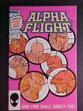 ALPHA FLIGHT #12! DEATH OF GUARDIAN! 1984 MARVEL COMICS