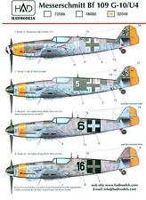 Hungarian Aero Decals 1/32 MESSERSCHMITT Bf-109G-10/U4 German Fighter
