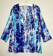 Allison daley Blouse Size 2X Stretch Multicolored 3/4 Sleeves Casual Tops