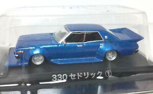 Aoshima 1977 Nissan Cedric ** Detailed Import JDM *WILD Custom *BLUE* 1/64