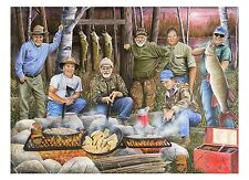 "86 ""Shore Lunch with Hall of Famers"" 19.5x24 Paper Print by Robert Metropulos"