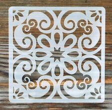 Middle Eastern Style Tile Stencil 190 Micron Mylar Washable Reusable 10 x 10cm
