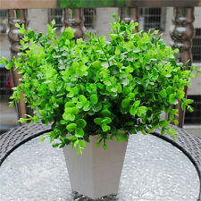 Artificial Eucalyptus Grass Green Leave Plant For Home Decor 7-Branches RZUS