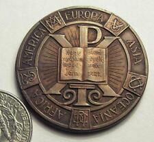 Hungarian form of YMCA,K.I.E conference medal Debrecen 1935,America,Europa,Asia
