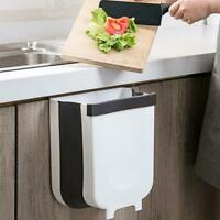 1x Creative Wall Hanging Folding Waste Bin Cabinet Trash Can Kitchen Garbage Box