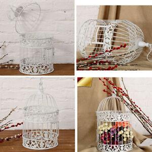 Large Decorative Bird Cage White Round Metal Birdcage Wedding Vintage Decor UK