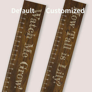 Personalised Custom Measuring Height Fabric Growth Chart Wooden Design Ruler