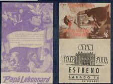 Programa publicitario de CINE. Título: PAPÁ LEBONNARD. Jean Murat, Madeleine S.