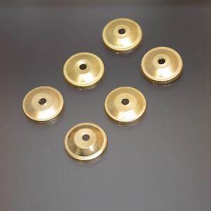 Ersatz Montur Messing Möbelknopf Blende Zubehör Gold  Möbelgriff 6X BLENDEN GOLD
