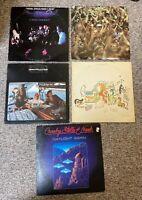Lot of (5) CROSBY STILLS NASH & YOUNG LP records: Self, 4 Way, Live +3 -- VG+