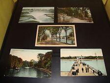Vintage Ottawa Canada Post Card Quantity 5 Lot VG Condition 1911 Rideau Canal