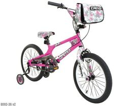 18 in. Girls Camo Decoy Bike Steel Bmx Frame w/ Messenger Bag and Comfort Grips