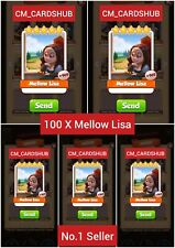 Buy 100 X Mellow Lisa, Coin Master Cards From Artist [Get Jet Delivery]