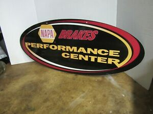 VINTAGE NAPA BRAKES DOUBLE SIDED SIGN, 1990s