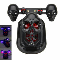 Motorcycle Skull Black Turn Signal Rear Brake Tail Light LED For Harley Bobber
