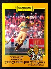 SCANLENS-AUSTRALIA: DEAN JONES 1986-87 CLASHES FOR THE ASHES Cricket Card # 51