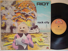 RIOT - Rock City LP (RARE 1977 Canadian Import on ATTIC, Debut)