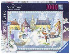 RAVENSBURGER CHRISTMAS PUZZLE*1000 T*SNOWMAN AND SNOWDOG*WEIHNACHTEN*SCHNEEMANN