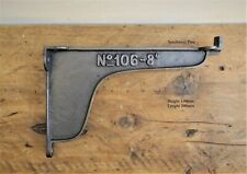 Pair Of Large Industrial Style Numbers Cast Iron Shelf Brackets 200mm Deep