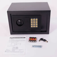 "12"" Wall Steel Digital Electronic Safe Security Box Wall Jewelry Gun Cash Home"