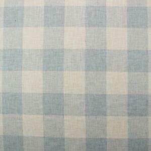 "BALLARD DESIGNS BRIELLA CHECK LAGOON BLUE OFF WHITE MULTIUSE FABRIC BY YARD 54""W"
