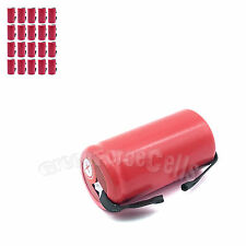 20 pcs SubC Sub C 3400mAh 1.2V NiMH Rechargeable Battery w/ Tab For RC Toy Red