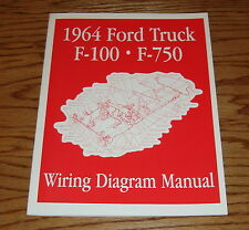 1964 Ford Truck F100 - F750 Wiring Diagram Manual Brochure 64