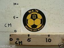STICKER,DECAL WK 1974 BRIXON ZIT ALTIJD VOETBAL SOCCER