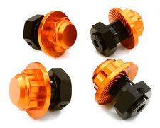 C26812ORANGE Integy Machined Alloy 17mm Hex Wheel Hub (4) for HPI Savage XS Flux