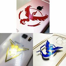 Pokemon Go Team Metallic Reflective Car iPhone Case Sticker Decal Valor Blue US