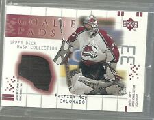 2001-02 UD Mask - PATRICK ROY - Game Used Goal Tender Pad - AVALANCHE