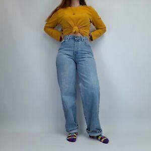 Vintage High Waisted Mom Jeans 29W 32L Blue