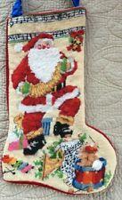 Bucilla Musical Santa Stocking Christmas Handmade Needlepoint #60700 Complete