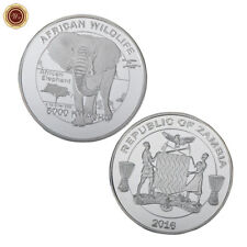 WR 2016 Zambia African Wildlife Elephant Silver Collectors Coin Mint 5000 Kwacha