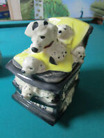 VINTAGE McCoy DALMATIANS IN ROCKING CHAIR 12""