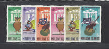 MALDIVE ISLANDS 195-200 MNH UNESCO, OWL, VIOLIN, MICROSCOPE