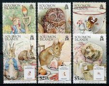 Solomon Isl Stamps 2006 MNH Beatrix Potter Peter Rabbit Owls Hedgehogs 6v Set