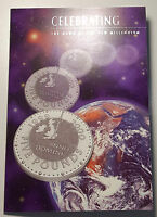 1999 UK Great Britain Millennium Crown 5 Pounds BU Coin in Royal Mint Pack